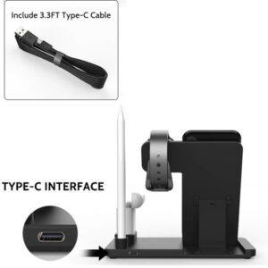 4 in 1 Wireless Charging Station for Apple Products.